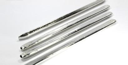 Олово металлическое слиток, 99.999% (нетто 240-260 грамм)