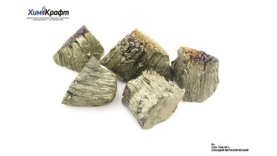 Скандий металлический, дендриты